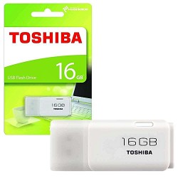 Toshiba TransMemory 16GB USB Flash Drive- White